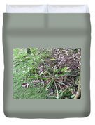 Pineapples Growing In The Woods Duvet Cover