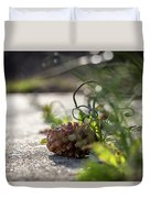 Pinecones And Wild Onions  Duvet Cover