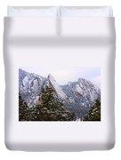 Pines And Flatirons Boulder Colorado Duvet Cover