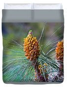 Pines In Bloom Duvet Cover