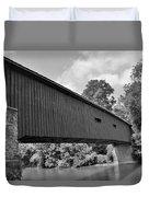Pinetown Bushong's Covered Bridge Black And White Duvet Cover