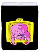Pink Alien Duvet Cover
