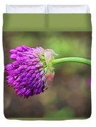 Pink Allium Duvet Cover