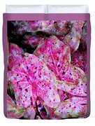 Pink Caladium Duvet Cover