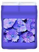 Pink And Blue Hydrangea 4 Duvet Cover
