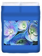 Pink And Blue Hydrangea 5 Duvet Cover
