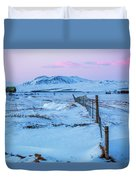 Pink And Blue Sunset Duvet Cover