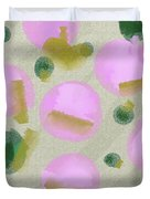 Pink And Green Inspiration Duvet Cover