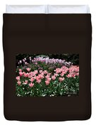 Pink And Mauve Tulips Duvet Cover