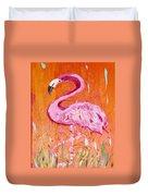 Pink And Orange Flamingo  Duvet Cover