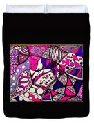 Pink And Purple Abstract Duvet Cover