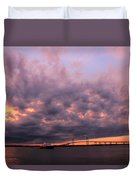 Pink And Purple Sunset Duvet Cover