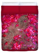 Pink And Red Firecracker Debris Abstract Duvet Cover