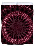 Pink And Red Glowing Mandala Duvet Cover