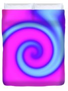 Pink And Turquoise Swirl Abstract Duvet Cover