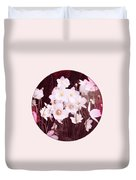 Pink And White Anemones Duvet Cover