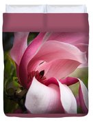 Pink And White Magnolia Duvet Cover