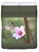 Pink And White Nectarine Blossom Duvet Cover