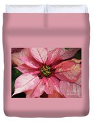Pink And White Poinsettia Duvet Cover