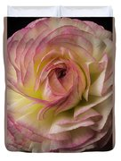 Pink And White Ranunculus Duvet Cover