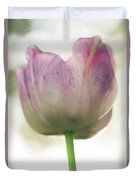 Pink And White Tulip Duvet Cover