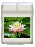 Pink And White Water Lily Duvet Cover