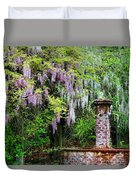 Pink And White Wisterias Duvet Cover