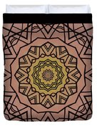 Pink And Yellow Kaleidoscope 1 Duvet Cover