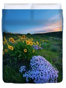 Pink And Yellow Sunset Duvet Cover
