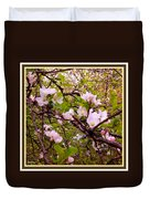 Pink Aplle Blossoms Of Spring Time Duvet Cover