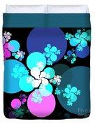Pink Aqua Orbs Duvet Cover