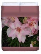 Pink Asiatic Lilies 1 Duvet Cover