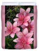 Pink Asiatic Lilies 2 Duvet Cover