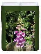 Pink Bell Flowers. Foxglove 03 Duvet Cover
