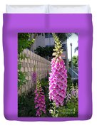 Pink Bell Flowers Duvet Cover