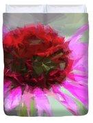 Pink Bezels Duvet Cover