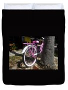 Pink Bicycle Duvet Cover