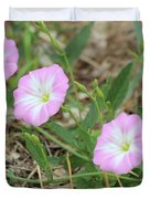 Pink Bindweed Duvet Cover