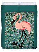 Pink Bird Duvet Cover