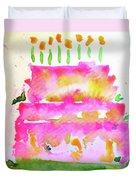Pink Birthday Cake Duvet Cover