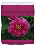 Pink Bloom Peony Tree Duvet Cover
