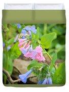 Pink Bluebells Duvet Cover