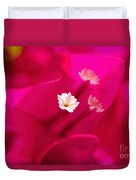 Pink Bougainvillaea Duvet Cover