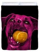 Pink Boxer Mix Dog Art - 8173 - Wb Duvet Cover