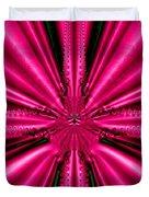 Pink Brocade Fabric Fractal 55 Duvet Cover