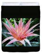 Pink Bromeliad Duvet Cover