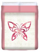 Pink Butterfly Duvet Cover