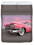 Pink Cadillac Sunset Duvet Cover
