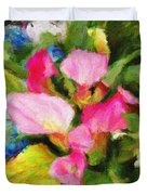 Pink Calla Lilly Duvet Cover