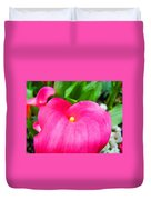 Pink Calla Lily Macro Flower Art Print Lilies Baslee Troutman Duvet Cover